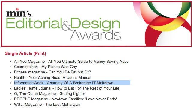 Finalist: min's Editorial & Design Awards