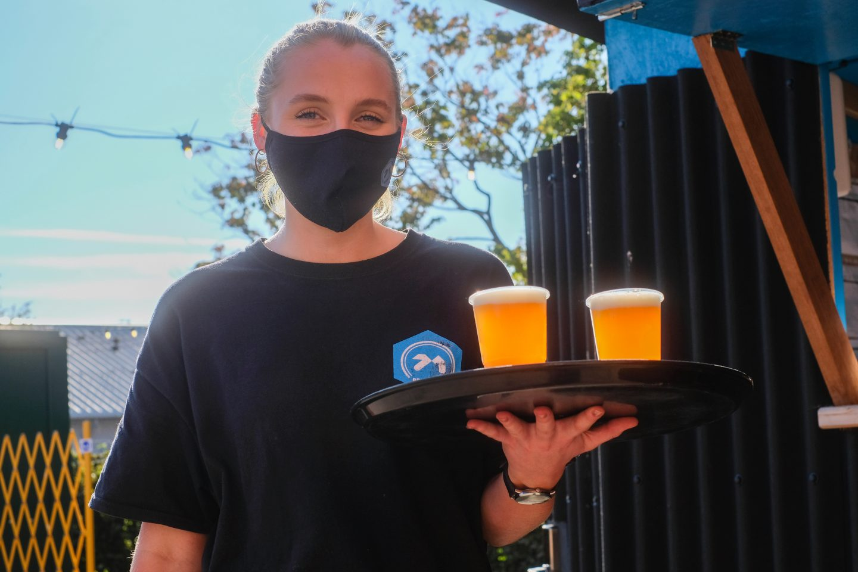 Server at 71 Brewing's Beer Garden
